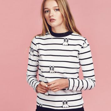 Lazy Oaf Bunny Stripe T-shirt