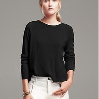 Pleat-Back Pullover