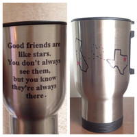 Custom Long distance friend ship travel mug 15 oz long distance relationship mug