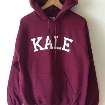 CUPUP3F KALE Women Fashion Hooded Top Pullover Sweater Sweatshirt
