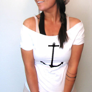 FREE SHIPPING Nautical Anchor Simplistic Anchor by pebbyforevee