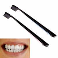 2 Pcs/set Nano Charcoal Toothbrush Soft Toothbrush Oral Teeth Brush Tooth Care