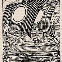 Vintage Clip Art Ship Image – nautical illustration from vintage Shakespeare text – Printable Graphic – instant download - CU OK img