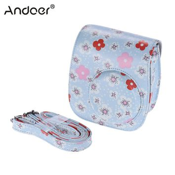 Andoer PU Protective Camera Bag Case Pouch Protector for Fujifilm Instax Mini 8+/8s/8 Camera Video Bag