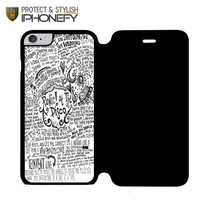 Panic At The Disco Lyric 3 Cover iPhone 6 Flip Case|iPhonefy