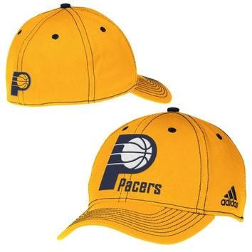 Indiana Pacers adidas Team Nation Wordmark Structured Flex Hat ¨C Gold