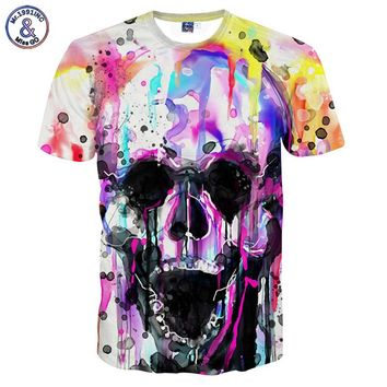 3-D Psychedelic Skull Novelty Tee