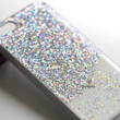 Real glitter Blush Nail Polish iphone 5 5s 4s 5c case iphone 4 case iphone 4s case iphone 5s Cover Silver diamante Sparkly Sparkle Bling