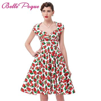 Summer Dress 2017 Vintage Rockabilly Dresses Jurken 60s 50s Vintage Big Swing Floral Pinup Short Long Audrey Hepburn Dresses