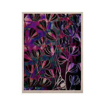 """Ebi Emporium """"Efflorescence - Mixed Berry"""" Pink Purple KESS Naturals Canvas (Frame not Included)"""