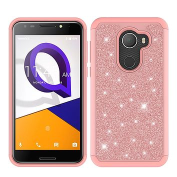 Jitterbug Smart 2 Case, Glitter Bling Case Cover w/ [HD Screen Protector] Phone Case for Smart2 - Rose Gold