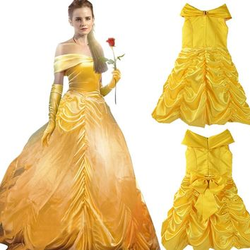 Girls Princess Belle Christmas Vestidos Costume Kids Clothes Cinderella Fancy Party Dress Cosplay Clothing Infant Children Wear