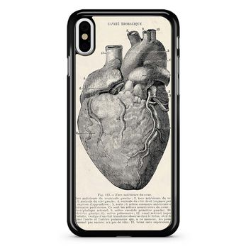 Heart Anatomy Vintage iPhone X Case