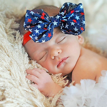 4th Of July New Kids Headband Newborn Girls Summer Style Fashion 2017 Bow Hair Bands Headband Hair Accessories