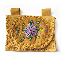 Golden Beaded Belt Wallet