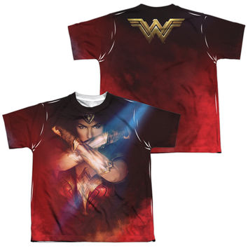 Wonder Woman Movie Arms Crossed Sublimated Youth T-Shirt