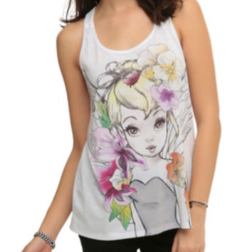Disney Tinker Bell Sketch Girls Tank Top