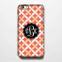 Carrot Quatrefoil Monogram iPhone 6 Plus 6 5S 5C 5 4 Protective Case #969