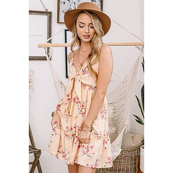 Remember Me Forever Floral Ruffle Dress