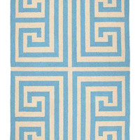 Trina Turk Rug Hook Greek Key Blue