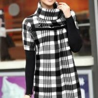 Tokyo Fashion Wholesale High Collar Plaid Winter Dresses_F/W Dresses_Wholesale - Wholesale Clothing, Wholesale Shoes, Bags, Jewelry, Wholesale Fashion Apparel & Accessories Online