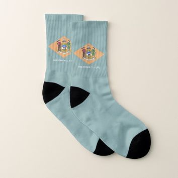 All Over Print Socks with Flag of Delaware