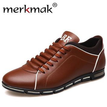 Casual Leisure Leather breathable loafers/shoes