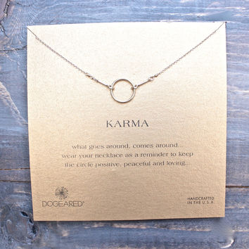 dogeared original karma necklace in gold dipped (16in - 18in)