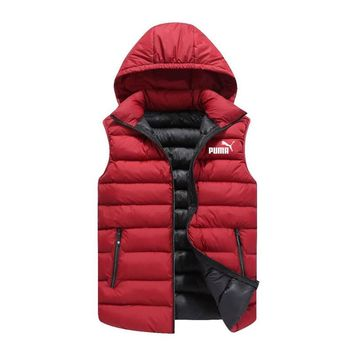 PUMA autumn and winter vest men's casual jacket vest Red