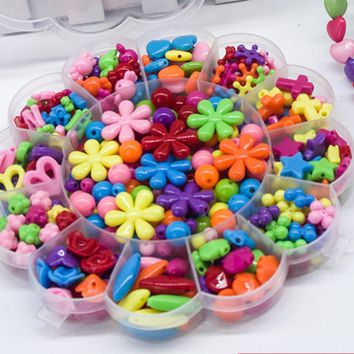 DIY Colorful  Bracelet Bead Jewelry Making Kids Beads Set