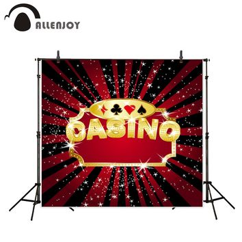 Allenjoy photography backdrop casino card Las Vegas shiny background photobooth photoshoot printed portrait shooting