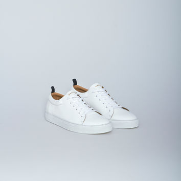 Nahariya Patent Leather Trainer 3 Sneaker in White