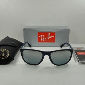 Kalete RAY-BAN SUNGLASSES RB4291 619788 BLUE FRAME/GREY GRADIENT MIRROR LENS 58MM NEW!