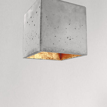 Large Concrete hanging lamp B5