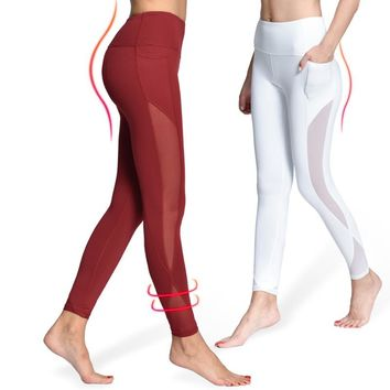 Yoga Compression Mesh Leggings (with Pocket)