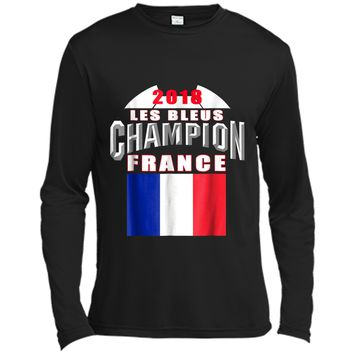 2018 France Soccer TShirt Team Les Bleus Cup tees Long Sleeve Moisture Absorbing Shirt