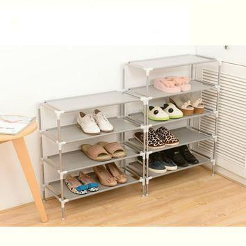 2016 New Non-woven Fabric Storage Shoe Rack Hallway Cabinet Organizer Holder 2/3/4/5/6