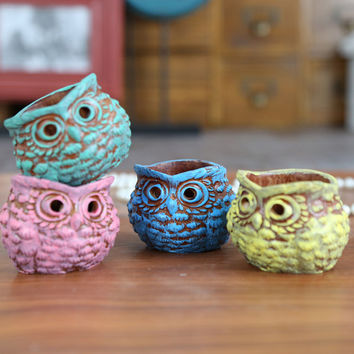 Resin owl candlestick european candle holder house decoration wedding party best gift four colors A50