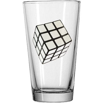 Rubik's Pint Glass