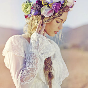 Miles of Lavender Headpiece