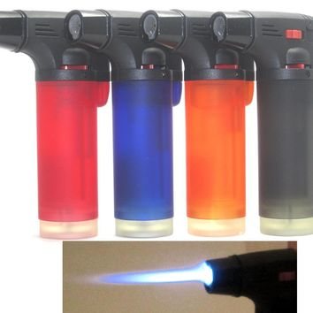 Pack of 4 Single Jet Flame Torch Lighter Windproof Refillable - Fast US Shipping
