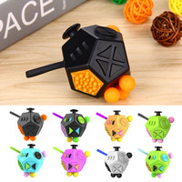 2017 New Version Fidget Cube 2 Stress Reliever Gifts Relieves Anxiety Squeeze Fun 12 Sided