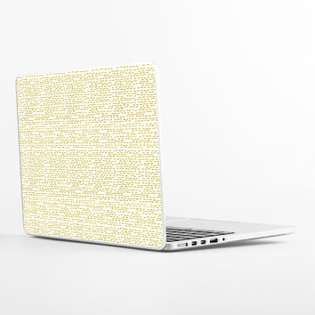 Gold Stripes Laptop Skin