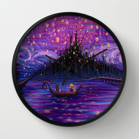 The Lantern Scene Wall Clock by Kimberly Castello