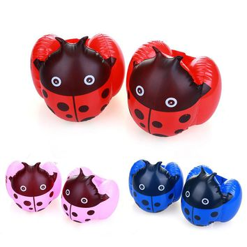 1 Pair Children Arm Float Boys Girls Swimming Ring Baby Inflatable Swim Training Equipments Inflatable Ladybug Cartoon Arm Float