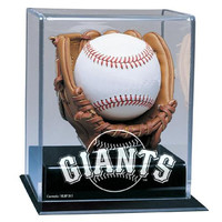 San Francisco Giants MLB Soft Brown Glove Baseball Display