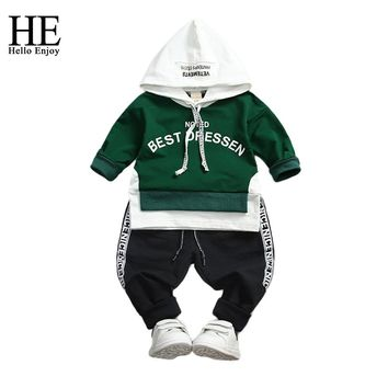 Boy Sport Suits Children's clothing Spring Autumn Long Sleeve Letter Hoodie Sweat+Trousers Toddler Boys Clothes