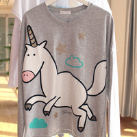 Home Knit Cotton Lovely Cartoons Print Sleepwear [9093785354]