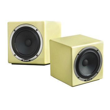 Retro Cream MixCube Mini Monitors by Aventone