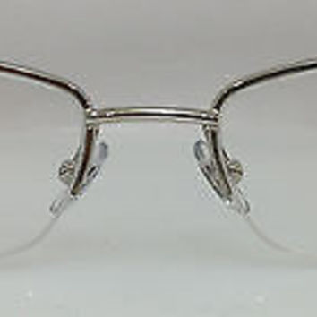 NEW AUTHENTIC YVES SAINT LAURENT YSL6165/Y COL 010 SILVER METAL EYEGLASSES FRAME